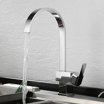 High arc kitchen faucet in chrome polished SW-KF003