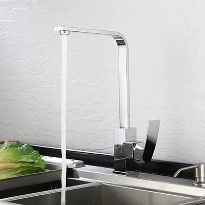 Single handle kitchen faucet in chrome polished SW-KF006