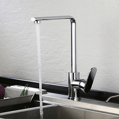 Single handle kitchen faucet in chrome polished SW-KF007