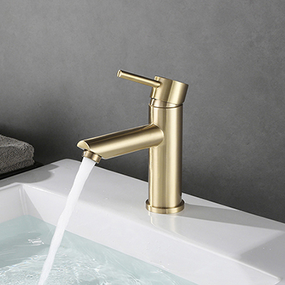 Single handle brushed gold basin faucet SW-BFS010(1)