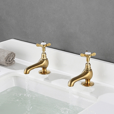 Classic British Style Double Cross Handle Pillar Tap SW-BT001